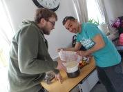 Herman and Jun check if the dough has risen