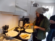 Marybell frying the turon