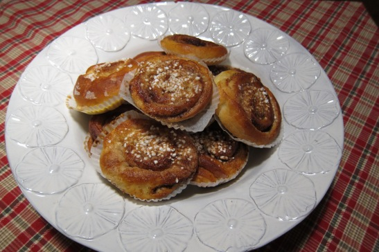 "Swedish ""kanelbullar"" (cinnamon rolls)"