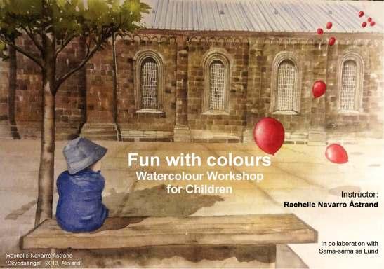 Affisch watercolour workshop